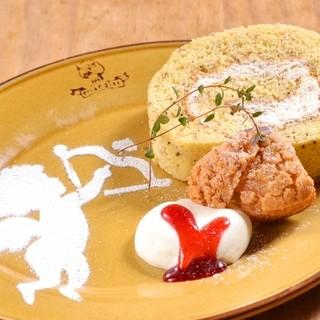 ◆人気の看板メニュー♪ブッシュドプーレ特製ロールケーキ♪