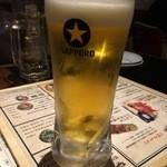 全力鶏 - ビール