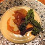 48397210 - 黒豚角煮と馬鈴薯の奉書包み揚げ