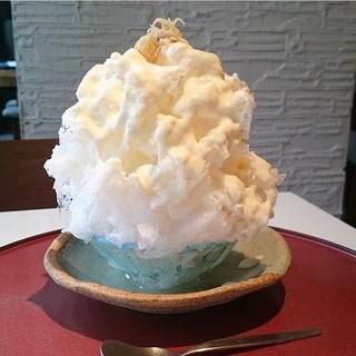 <夏限定>カキ氷獺祭酒粕クリーム天然氷