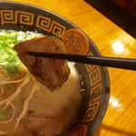 ラーメンやまびこ - やまびこ麺は豚バラチャーシューになります(*^_^*)