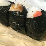 にぎりめし - 鮭、おかか、梅