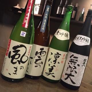 淡路島の日本酒など豊富なドリンク