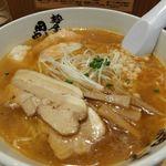 麺屋 田中商店 - 甘海老ワンタンメン(塩)