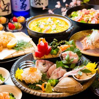 様々なシーンに対応可能なご宴会コース料理各種ご用意!