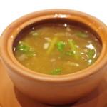 新世界菜館 - 春芹とフカヒレのスープ