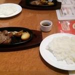肉パル - ステーキセット:950円+税