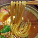 伊賀大正庵 - 普通の固さの麺をチョイスです。固い麺は煮込み用の麺でしょうか?