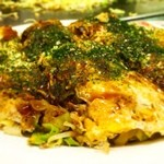 ソニア - ランチのお好み焼き、そば0.5、野菜(キャベツ)ダブルで870円
