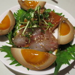 LEE - つきだし1 鯛とサーモンの中華風刺身