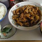 のんき食堂 - ※ひと口食べてから撮影させてもらったのでご飯にタレが…