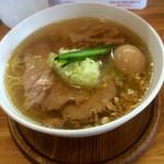 心麺 - 塩チャーシューめん+半熟味付け玉子 1060円