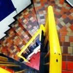 アチャラナータ - お店への階段(狭くて急)。 なんとも怪しいので、ちょっと勇気がいります。