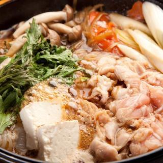 こだわり食材たっぷり鶏すき焼き