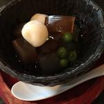 釜の座 - デザート♡ 生姜と国産紅茶の寒天が渋い♪