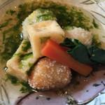 釜の座 - 一の重 *高野豆腐と里芋のあられ揚げ