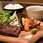 ツバサ食堂 - Tsubasaステーキ定食<S>