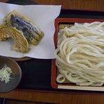 第三山本うどん店 - 野菜天もりうどん(大盛り)