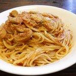 イタリア食堂 - アサリとトマトのスパゲティ