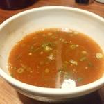 濃厚魚介らぅ麺 純 - 最後にスープ割りです。