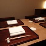神楽坂 石かわ - 個室セッティング