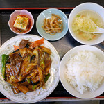48451520 - ラムと茄子のピリ辛定食 ¥800