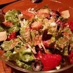 中目黒 イチマルイチR - ドライトマトとブラックオリーブのシーザーサラダ