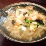 蒲田刀削麺 - 海鮮刀削麺 ¥850 ※大盛り無料