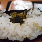 華むすび - 高菜いっぱいの中身