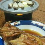 Minshukuhagiwara - アワビのバター焼き&カサゴの煮つけ