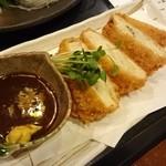 田舎家「旬」 - ○魚のメンチカツ 680円