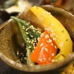 おばんざいカエル - 野菜揚げ浸し