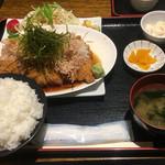 つかさ亭 - 和風おろしチキンカツ定食・わさび添え ¥880