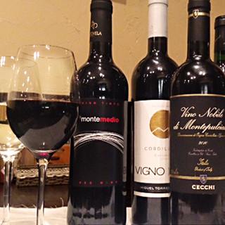 こだわりのワインも豊富なラインナップ♪
