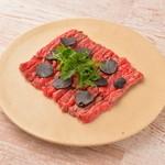 エイジングビーフ - 熟成和牛とトリュフのカルパッチョ コールドステーキ仕立て
