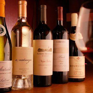 ロマンティックな眺めと贅沢なお料理。そして最高のワイン。