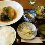季節料理 なかはら - 「平目の唐揚げおろし煮定食」 ¥950(税込)