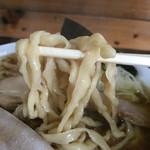 太麺屋 - 極太麺普通盛りあぶらっぽく②