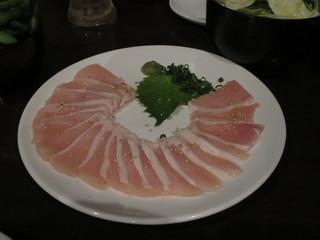 博多もつ鍋専門 食べ放題居酒屋 筍庭 - 朝〆地鶏のお刺身