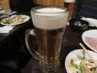 博多もつ鍋専門 食べ放題居酒屋 筍庭 - 生ビール