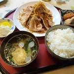 とこちゃん - 生姜焼き定食(500円)2016年3月