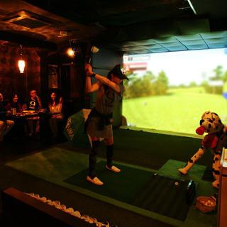 シュミレーションゴルフ・ダーツ・カラオケ付VIP個室