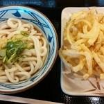丸亀製麺 - ぶっかけうどんと野菜のかき揚げ!