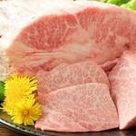 釜山 - 料理写真:最高級黒毛和牛A5ランク上カルビ