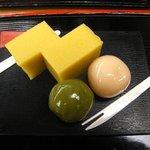 舟和 - 芋ようかんとあんこ玉