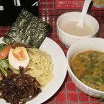 とんこつ小川 - 魚介鶏とんこつ つけ麺 850円