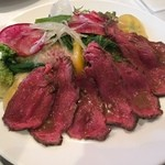 48501657 - 漢方牛のローストビーフ(アセロラドリンク、バケット、紅茶付き)1680円
