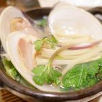 銀座 しまだ - 大ハマグリと春野菜の小鍋