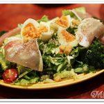48507535 - 生ハムと半熟卵のシーザーサラダ