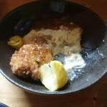 居酒屋みやもん - 料理写真:これは珍しい、鮫のメンチ。
